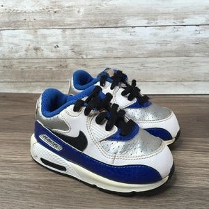 Air Max 90 Toddler Size 5C Blue Silver White